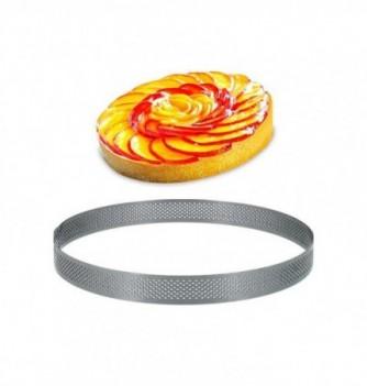 Cercle Inox Pâtisserie 24cm Micro-Perforé ht. 2cm