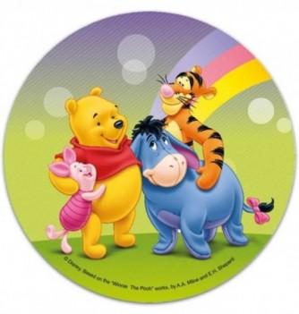 1 DISQUE AZYME Winnie, tigrou, porcinet et bourriquet