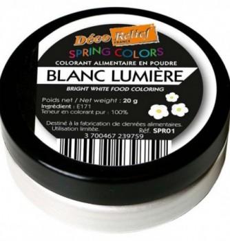 Colorant en Poudre Blanc Lumière Hydrosoluble