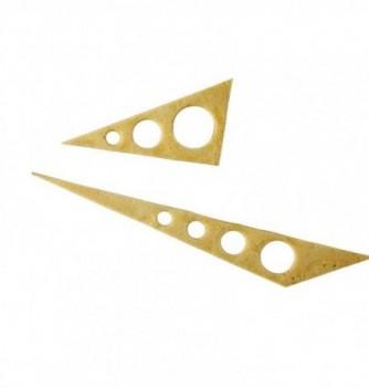 DECORS MOULES SILICONES Triangle Ajouré 8pcs