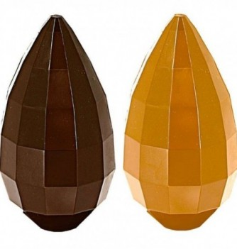 Moule Oeuf Chocolat à Facettes 14cm