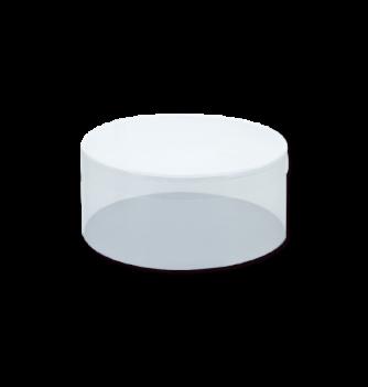 1 Boîte Ronde PVC ht100mm diam 100mm fond carton blanc