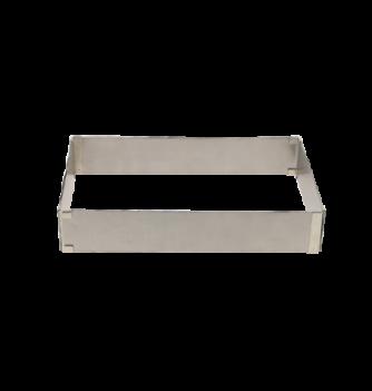 Carré Extensible Inox 15x15-28x28cm. ht.5cm. 1pc