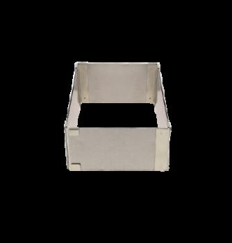 Carré Extensible Inox 9.5X9.5-16x16cm. ht.5cm. 1pc