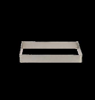 Rectangle Extensible Inox 28x18-53x33cm. ht.5cm. 1pc