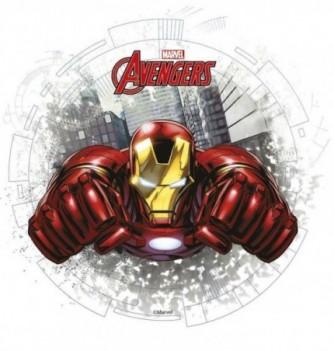 Disque Azyme Avengers Iron Man 1pers. Ø21cm 1pc