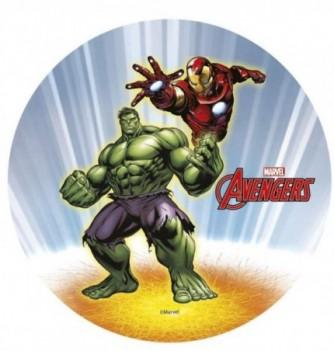 Disque Azyme Avengers Iron Man & Hulk 2pers. Ø21cm 1pc