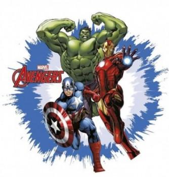 Disque Azyme Avengers 3 pers. Ø21cm 1pc