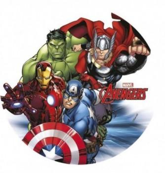 Disque Azyme Avengers 4 pers. Ø21cm 1pc
