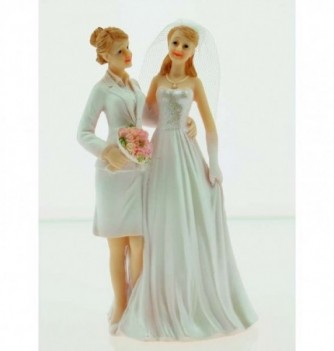 1 COUPLE MARIES resine femmes