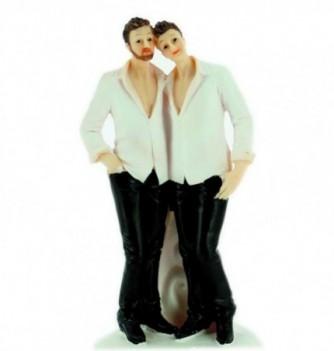 1 COUPLE MARIES resine hommes
