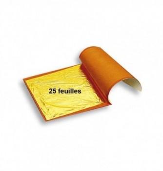 Feuille d'Or Alimentaire Carnet de 25 Feuilles
