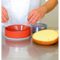 Cercle Inox Pâtisserie 8cm Micro-Perforé ht.3.5cm