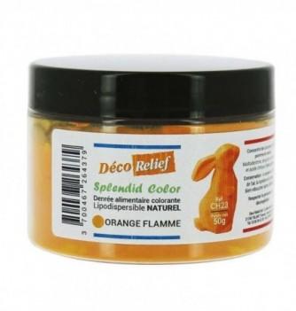 Pot de colorant alimentaire naturel lipodispersible orange flamme