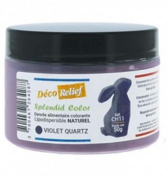 Pot de colorant alimentaire naturel lipodispersible violet