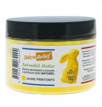 Pot de colorant alimentaire naturel lipodispersible jaune printemps
