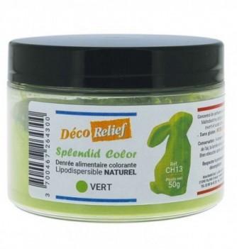 Pot de colorant alimentaire naturel lipodispersible vert