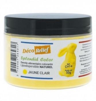 Pot de colorant alimentaire naturel lipodispersible jaune clair