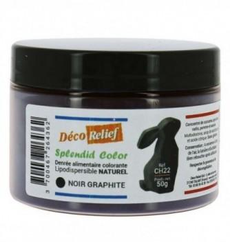 Pot de colorant alimentaire naturel lipodispersible noir