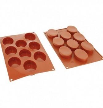 Moule Gâteau Silicone Ovale Décoflex - 9pcs