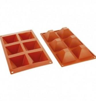 Moule Gâteau Silicone Pyramide Décoflex - 6pcs