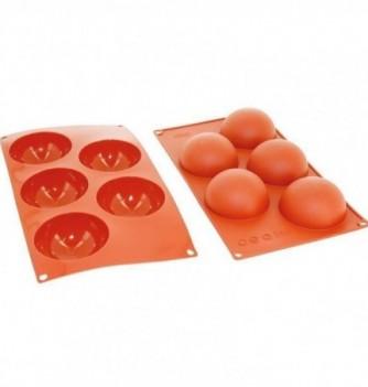 Moule Gâteau Silicone Demi Sphère Décoflex - 5pcs