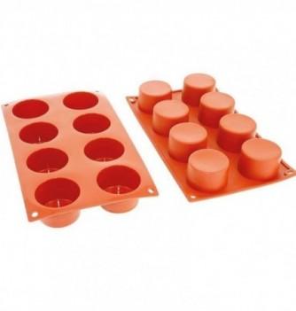 Moule Gâteau Silicone Cylindre Décoflex - 8pcs