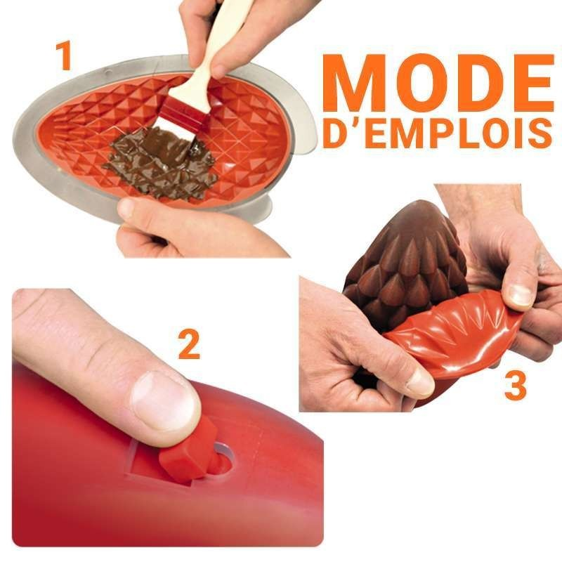 6 Moules silicone PavoCake couronne 180 x 55 mm