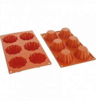 Moule Gâteau Silicone Brioche Décoflex - 6pcs