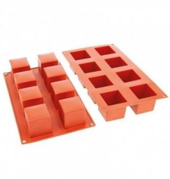 Moule Gâteau Silicone Cube Décoflex - 8pcs