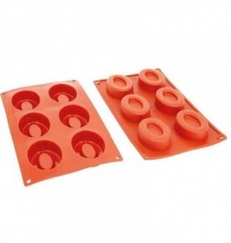 Moule Gâteau Silicone Ovale Creux Décoflex - 6pcs