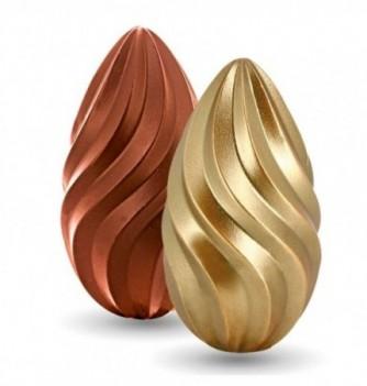 Kit Moule Oeuf 3D Chocolat Twist - Deux faces (Recto/Verso)