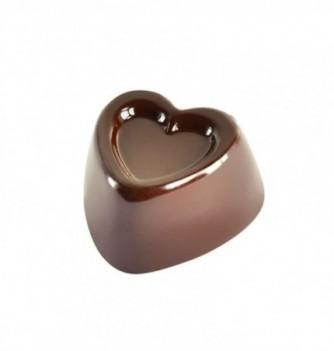 Moule Bonbon Chocolat Coeur Double Relief