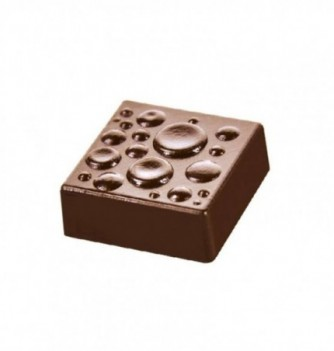 Chocolate mold square with drops 18pcs 9g
