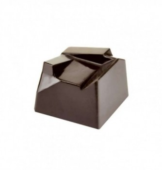 Chocolate mold unstructured square 25x25x17mm 18pcs 12g