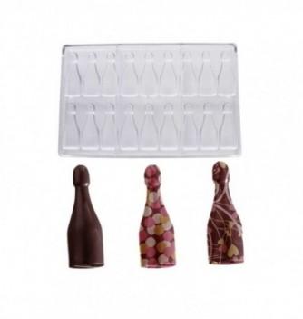 Chocolate mold - 15 Champagne Bottles diam. 32x16  10 gr