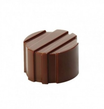 Chocolate mold - 21 Carved Round diam. 26x16 10 gr