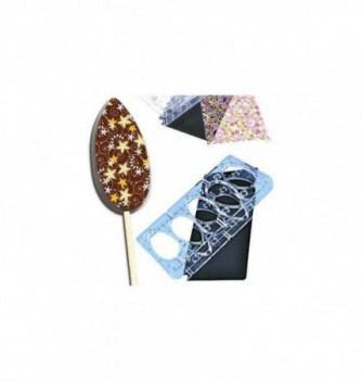 Magnetic chocolate mold 5 oval lollipops