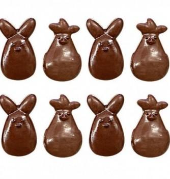 Moule Friture Chocolat Pâques Cocottes & Lapins