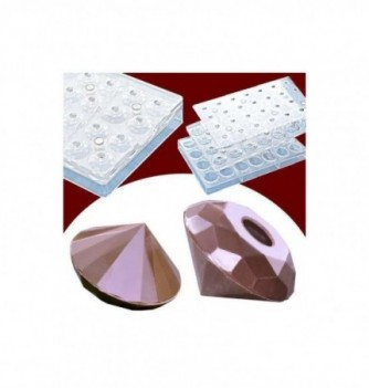 Magnetic chocolate mold diamonds 28pcs