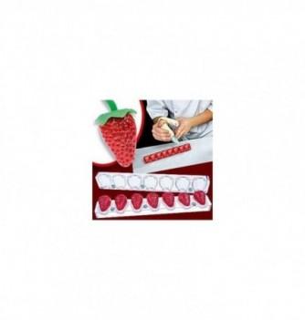 Moule chocolat aimanté 3D - 7 fraises diam23x32mm