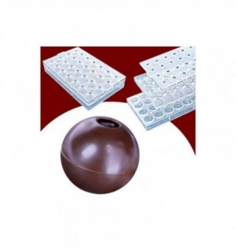 Magnetic chocolate mold 3D spheres diam30mm 28pcs