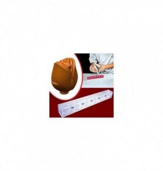 Moule chocolat aimanté 3D - 6 roses 30x25x23mm