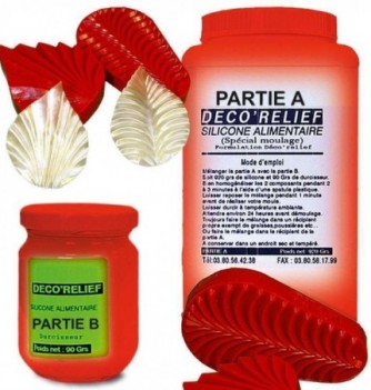 Silicone & hardener red 1kg