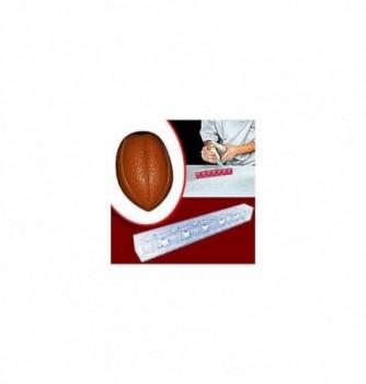 Chocolate mold 3D cocoa bean 32x23x24mm 6pcs