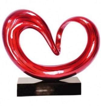 Sculpture Coeur rouge - 15kg