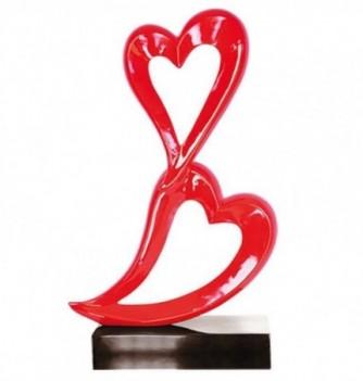 Sculpture 2 Coeurs rouges - 10kg