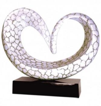 Sculpture Coeur marbre blanc - 15 kg