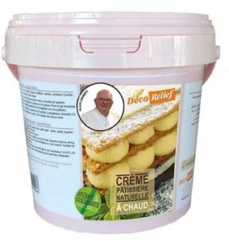 Crème pâtissière naturelle à chaud