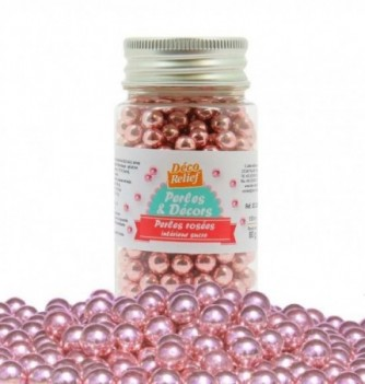 Pink pearls inside sugar